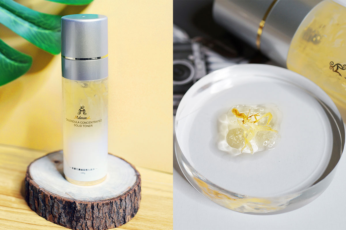 金盞花、保濕化妝水、凝露、真空瓶