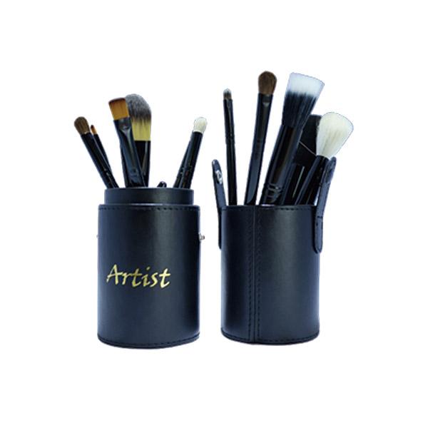 Artist 皮革圓筒刷具組(12支) #黑